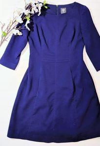 Vince Camuto Purple 3/4 Sleeved Sheath Dress